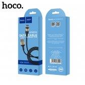 USB kabelis HOCO X26 Type-C 1m juodas-auksinis