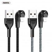 USB kabelis Remax FastCharging RC-097i Lightning sidabrinis