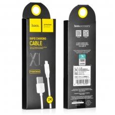 USB kabelis HOCO X1 lightning 2m baltas