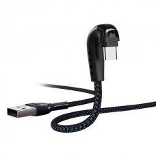 USB kabelis Remax FastCharging RC-097a Type-C juodas